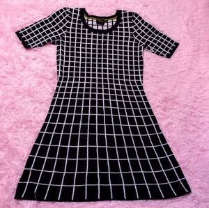 Vintage Geometric Dress -- size L